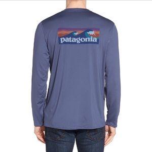 Patagonia Mens Logo Long Sleeved Sun Rashguard Tee